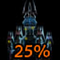 25% OF THE CASTLE IS LIT