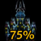 75% OF THE CASTLE IS LIT